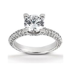 """1.35CT Round Diamond  """"A"""" Head Style Engagement Ring 14K White Gold by…"""