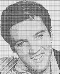Elvis (Challenging) Chart For the more experienced relaxed cross-stitcher ..