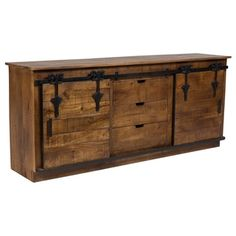 Shop for Wanderloot Barn Door Sideboard with 3 Drawers 2 Sliding Doors and Cast Iron Accents. Get free delivery at Overstock.com - Your Online Furniture Store! Get 5% in rewards with Club O!