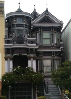You don't normally see a darkly painted Victorian house.