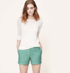 Textured Cotton Riviera Shorts   Faith, Hope, Love, and Luck Survive Despite a Whiskered Accomplice