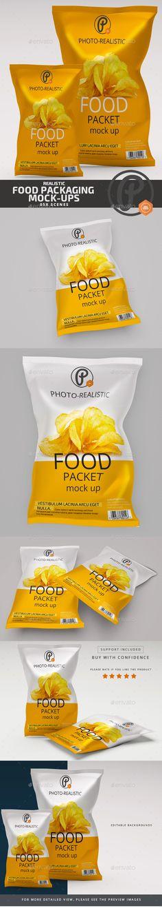 Food Packaging #Mock up - Food and Drink #Packaging Download here: https://graphicriver.net/item/food-packaging-mock-up/19616843?ref=alena994