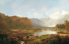 Wiliam L. Sonntag: Pescadores en los Adirondacks, c. 1860-1870. Museo Thyssen-Bornemisza