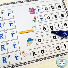 French Alphabet Stamping OR Writing Worksheets! Fun and engaging activity that will help your students improve fine motor skills and learn the French alphabet at the same time! French Language Learning, Learn A New Language, Writing Practice, Teaching Writing, Kindergarten Literacy, Literacy Centers, French Alphabet, French For Beginners, Alphabet Stamps