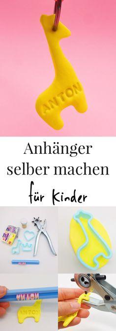 DIY Ideen - Geschenke originell verpacken mit Fimo Schmuck Anhängern. Super süße Geschenkideen für Kinder oder zum Geburtstag. So könnt Ihr Euch Fimo Schmuck ganz einfach selber basteln.