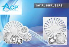 SWIRL Airflow Diffusers |  Difuzoare de aer cu Jet Turbionar  | #hvac | #acp | #manufacturer | #ventilation | #products | #romania | #ventilatie | #anemostat | #producator | #technology
