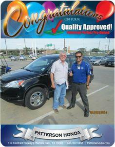 Congratulations Max Laing on your new 2010 Honda Crv!- From Joey Lara at Patterson Honda
