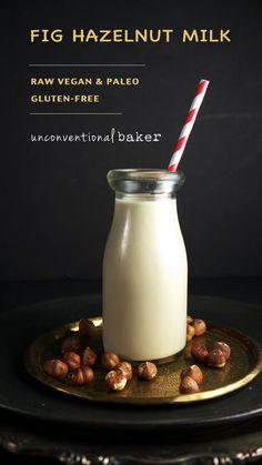 Fig Hazelnut Milk {Raw, Vegan, Paleo, GF}