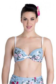 Hell Bunny 50s Belinda Roses Bikini Top