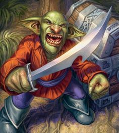 """Captain Greenskin Battlecry: Give your weapon """"He was this close to piloting a massive juggernaut into Stormwind Harbor. If it weren't for those pesky kids!"""" by Dan Scott World Of Warcraft, Warcraft Art, Fantasy Character Design, Character Inspiration, Character Art, Goblin King, Fandom, Fantasy Monster, Fantasy Illustration"""