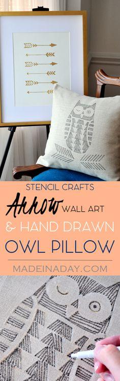 Stencil Crafts! Hand