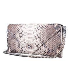 Women Real Python Skin Handbag