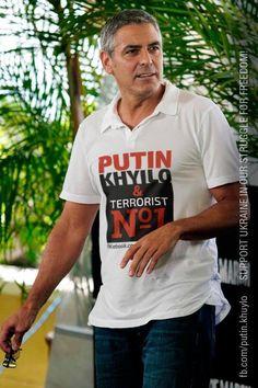 Джордж #Клуни тоже знает,что #путин - #хуйло!