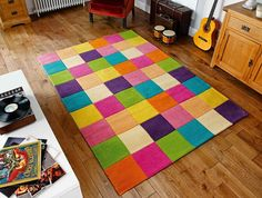 Gio Multi Chequered Modern Rug by Oriental Weavers 1