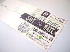 Designspiration — Wedding - Save the Date : the creative work of Brian Hurst