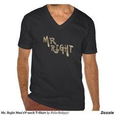 Mr. Right Men'sV-neck T-Shirt