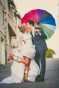 Rainy day wedding with fun pops of color!  Full gallery: https://www.friartux.com/blog/8552#.VbKxsrNVhBc