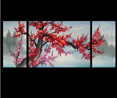 Modern Abstract Paintings on Canvas Cherry Blossom Painting 178es
