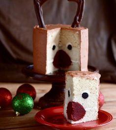 Rudolph Cake from Amanda Rettke's book #surpriseinsidecakes