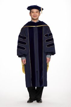 University of California Complete PhD Regalia - Gown, Hood, and Cap