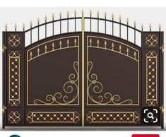 Compound Wall Gate Design, Gate Wall Design, Grill Gate Design, Steel Gate Design, Front Gate Design, Window Grill Design, Iron Main Gate Design, House Main Gates Design, Wrought Iron Driveway Gates