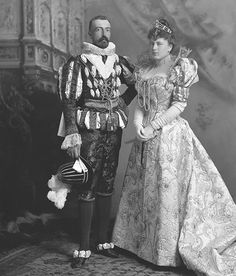 Grand Duke Michael Michailovitch of Russia as King Henry IV of France and his wife Sophia Nicholaievna, Countess de Torby as Gabrielle dEstray The Devonshire House Ball, 1897
