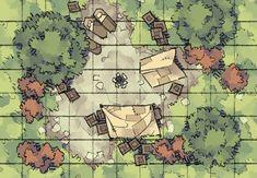 maps rpg camp battle map dungeon dungeons dragons tent base fantasy roadside forest pathfinder tiles wilderness tile medieval road night