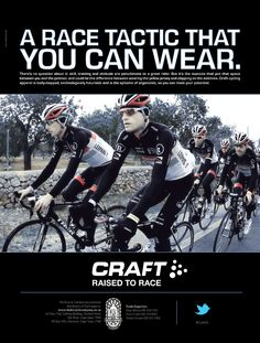 Craft Apparel - A race that you can wear. By http://www.the-greenhouse.co.za/