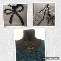 Fashion Jewelry Black Crystal Ribbon Bow Necklace Cadmium/Lead/Nickel Free  | eBay