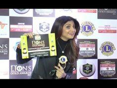 Shilpa Shetty AWARD WINNER at Lions Gold Awards 2016.