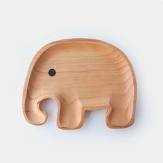 Eco Wooden Elephant Baby/Child's Plate (L) – Blue Brontide