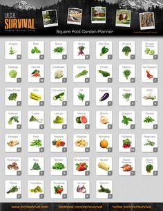 Square Foot Gardening Chart whitewolf0