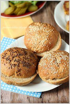 Feed Me Better: Pełnoziarniste bułki do hamburgerów (i nie tylko! I Am Awesome, Amazing, Grilling, Food And Drink, Bread, Fit, Recipes, Shape, Brot