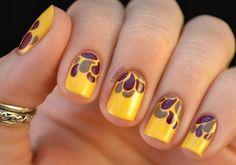 Diseños de Uñas de color Amarillo 7