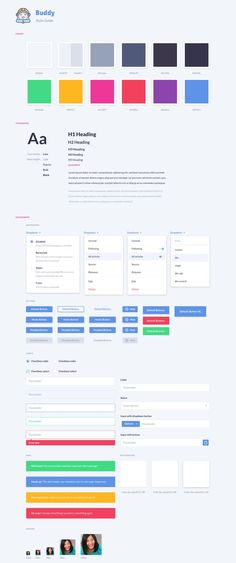 Style Guide for Web App – SiteUp | Style Guides | Pinterest