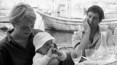 Marianne Jensen (Ihlen), her son, and Leonard Cohen, 1960s, Hydra, Greece. Credit: James Burke/The LIFE Picture Collection/Getty Images File Photo