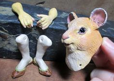 Golden Mouse 14 Anthro Art Doll Parts by doters on Etsy
