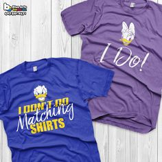 Disney Couple Shirts Donald Duck and Daisy Duck Matching