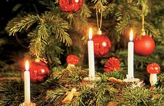 Christmas Tree Candles and Clip-On Candle Holders – Antique Christmas Decorations Make a Comeback Christmas In Germany, German Christmas, Old Fashioned Christmas, Little Christmas, Christmas Holidays, Merry Christmas, Xmas, Antique Christmas Decorations, Christmas Tree Candles