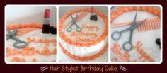 Sucre: September 2010 Hair Stylist Cake, September, Birthday Cake, Cake Stuff, Baking, Desserts, Cakes, Drink, Food