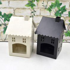Novelty Candle Holder House Lantern Tea light Stand Holder Iron Home Room Decor #Unbranded #Lantern