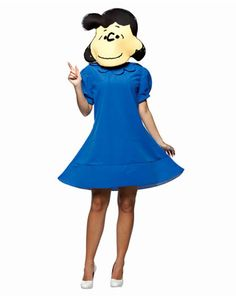 Womens Peanuts Lucy Costume | Womens TV and Movie Halloween Costumes