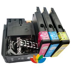 4x Compatible hp 932 933 High quality Ink Cartridges for HP932 HP933 Officejet 6100 6600 6700 7110 7610 7612 Printer (with Chip)