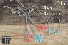 Learn how to make your own name necklace out of shrinky dinks.