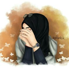 Closed girl drawing - hijab girl drawing / hijab anime drawing 'hijabA scarf is a vital part inside garmen Hijab Anime, Anime Muslim, Beautiful Girl Drawing, Cute Girl Drawing, Hijabi Girl, Girl Hijab, Orange Anime, Portrait Vector, Hijab Drawing