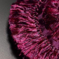 Dedar Trimmings: PIN017 Rouche col. 004 by Dedar - Lavish tufted braid with soft silky feel