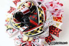 Queen of Hearts ribbon #bow #hairbow  Hair bow tutorial (Design idea)