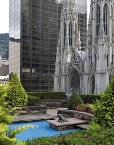 © New York Rooftop Gardens - Rockefeller Center. by Charles de Vaivre