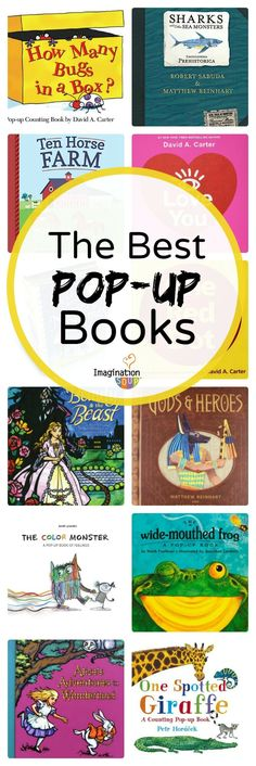 With the new release of Robert Sabuda's new pop-up book, Ten Horse Farm, I wanted to share all my favorite pop-up books that kids won't want to put down. Kids Educational Crafts, Educational Websites, Science Crafts, Toddler Books, Childrens Books, Kid Books, Children's Pop Up Books, Kids Pop, Counting Books