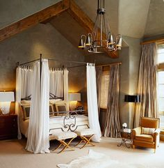 A Moody Palette Makes For Gorgeously Dramatic Master Bedroom Traditional Home